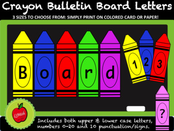 Bulletin Board Letters (Crayons)
