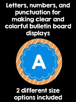 Bulletin Board Letters:  Blue and Orange
