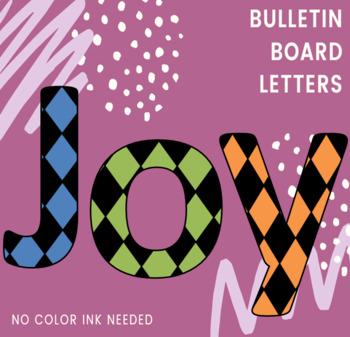Bulletin Board Letters: Diamond Pattern Large