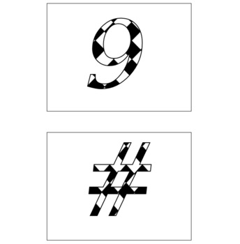 Bulletin Board Letters: Diamond Pattern Large: Calligraphy Font