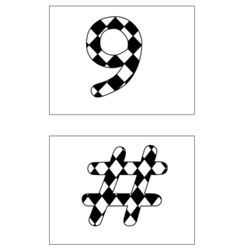 Bulletin Board Letters: Diamond Pattern Large: Comic Sans Font