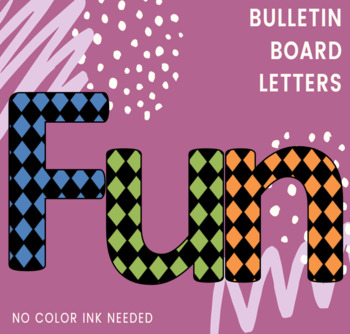 Bulletin Board Letters: Diamond Pattern Small