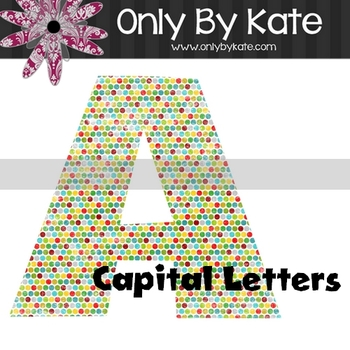 Bulletin Board Letters, Dotted, Print Your Own