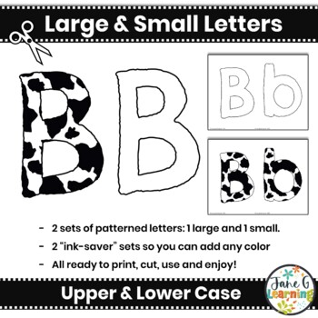 graphic regarding Cow Spots Printable known as Black and White Bulletin Board Letters Editable Bunting: Cow Places  Printable