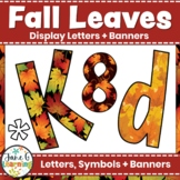 Fall Bulletin Board Letters & Editable Bunting: Fall Leaves | Class Decor