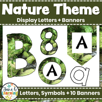 Bulletin Board Letters & Editable Bunting: Nature Theme | Printable Class Decor