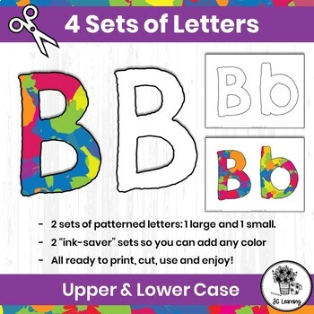 Bulletin Board Letters & Editable Bunting: Paint Splash | Printable Class Decor