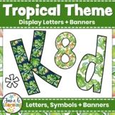 Tropical Bulletin Board Letters & Editable Bunting   Printable Class Decor