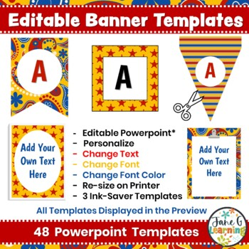 Bulletin Board Letters & Editable Bunting: Western 1   Printable Class Decor