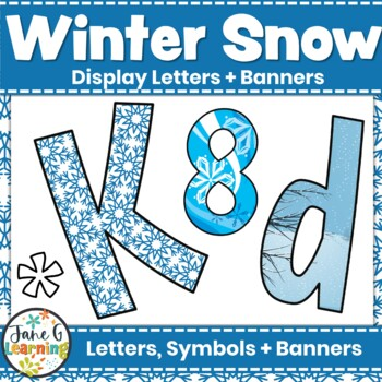 Bulletin Board Letters & Editable Bunting : Winter Snow | Christmas Class Decor