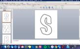 Bulletin Board Letters- Editable Using PPT