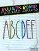 Bulletin Board Letters - FONT