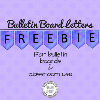 Bulletin Board Letters ~FREEBIE~ Blue Watercolor