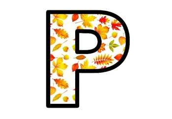 Bulletin Board Letters, Fall, Autumn Leaves Decor, Fall Alphabet Posters
