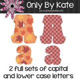 Bulletin Board Letters, Falling Leaves, Print Your Own