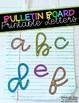 Bulletin Board Letters - Felt Tip Markers