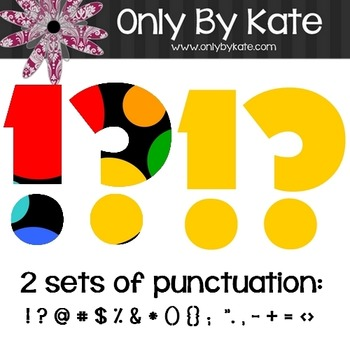 Bulletin Board Letters, Fun Dots, Print Your Own