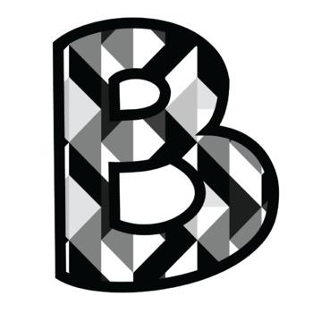 Bulletin Board Letters: Geometric Grays (Classroom Decor)