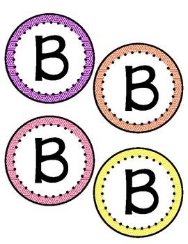 Bulletin Board Letters: Geometric Pattern