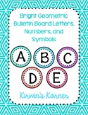 Bulletin Board Letters: Geometric Pattern