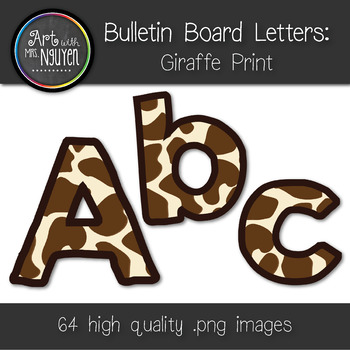 Bulletin Board Letters: Giraffe Print (Classroom Decor)