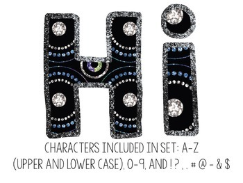 Bulletin Board Letters: Glitter Jeweled (Classroom Decor)