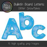 Bulletin Board Letters: Glitter Snowflakes (Classroom Decor)