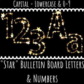 Bulletin Board Letters: Golden Star (Classroom Decor)