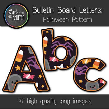 Bulletin Board Letters: Halloween Pattern (Classroom Decor)