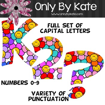 Bulletin Board Letters, Happy Flowers, Print Your Own