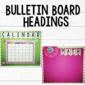 Bulletin Board Letters/Headings