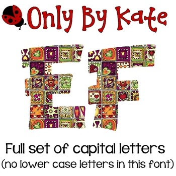 Bulletin Board Letters, Heart Squares, Valentine's Day, Print Your Own