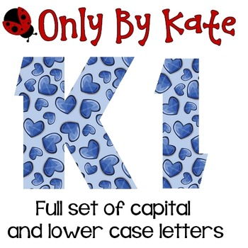 Bulletin Board Letters, Hearts So Blue, Valentine's Day, Print Your Own