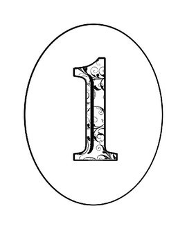 Alphabet Clipart Bulletin Board Letters Inside Ovals with Lace Design