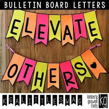 Bulletin Board Letters: KG A Little Swag ~ Easy Cut