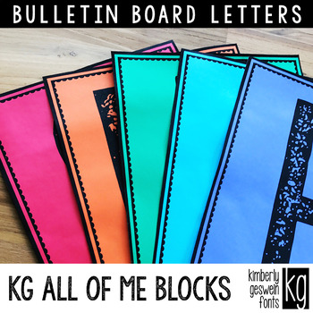 Bulletin Board Letters: KG All of Me Blocks ~ Easy Cut
