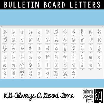 Bulletin Board Letters: KG Always A Good Time