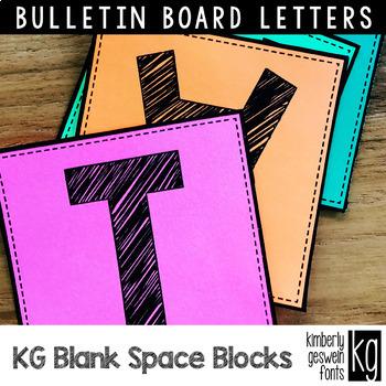 Bulletin Board Letters: KG Blank Space Sketch Blocks ~ Easy Cut