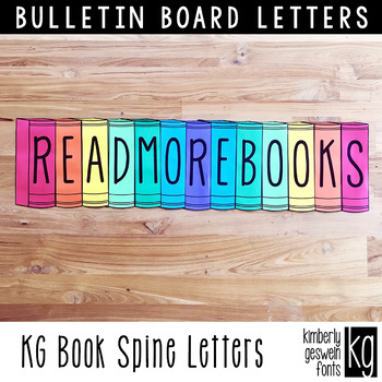 Bulletin board letters kg book spine letters by kimberly geswein fonts bulletin board letters kg book spine letters spiritdancerdesigns Gallery