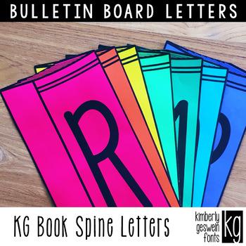 Bulletin Board Letters: KG Book Spine Letters