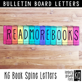 Bulletin Board Letters: KG Book Spine Letters