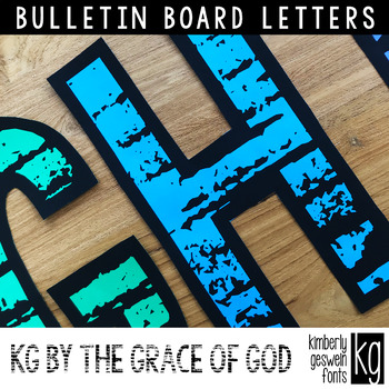 Bulletin Board Letters: KG By The Grace of God Letters