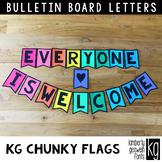 Bulletin Board Letters: KG Chunky Flags ~ Easy Cut