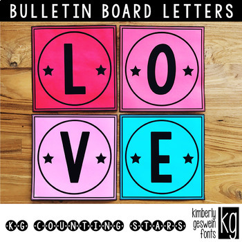 Bulletin Board Letters: KG Counting Stars ~ Easy Cut