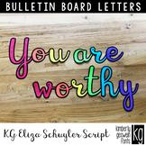 Bulletin Board Letters: KG Eliza Schuyler Script