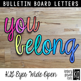 Bulletin Board Letters: KG Eyes Wide Open