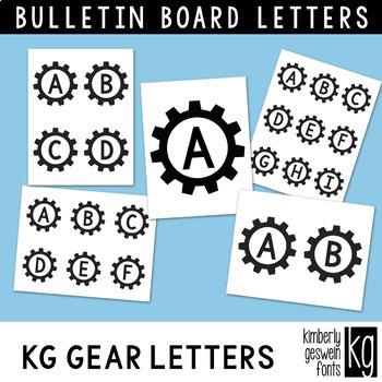 Bulletin Board Letters: KG Gear Letters