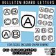 Bulletin Board Letters: KG Geronimo Blocks