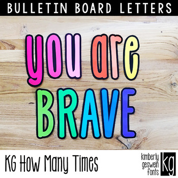 Bulletin Board Letters: KG How Many Times