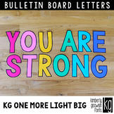 Bulletin Board Letters: KG One More Light BIG